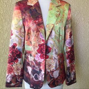 MK Solo Floral Print Jacket/blazer Multi Color M